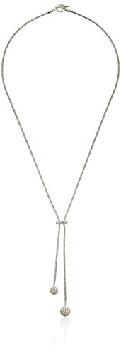 nOir Jewelry Rhodium Pave Sphere Lariat Y-Shaped Necklace -