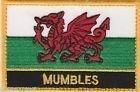 Mumbles Cymru Stadt & Stadt Bestickt Patch Abzeichen annähen
