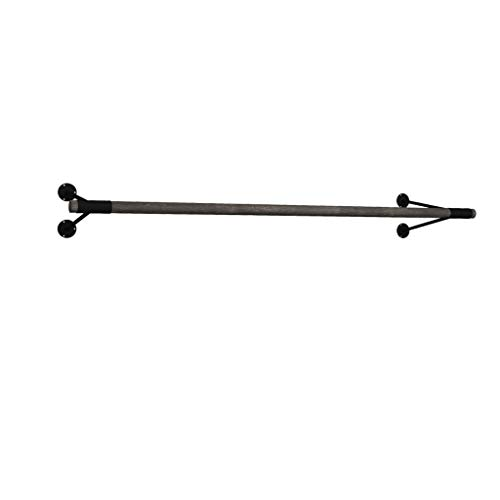 Wrought Iron Vintage Solid Wood Coat Rack V-Shaped Hook On Wall Hanger Living Room Bedroom Wall Rack Durable/Rust/Removable/Easy to Install Blue, Brown, Green, White (60cm, 80cm, 100cm, 120cm)