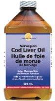 Cod Liver Oil Cherry Norwegian (Vitamin A 850 IU/g, Vitamin D 85 IU/g)-500 ml Brand: Natures Harmony - Canadian