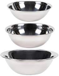 Vollrath Set of 3 Mixing Bowls: 4-Quart, 5-Quart and 8-Quart (Mixing Bowl Vollrath)