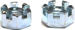 Carton 9//16-18 Slotted Hex Nuts//Steel//Zinc//250 Pc