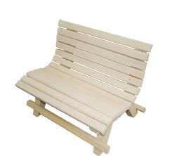 Elmato 10594 Sitzbank für nager, aus Naturholz