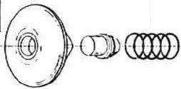 Sloan HY-111-A Metal Button Kit 3318006 by Sloan Valve (Image #1)