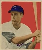 (1949 Bowman Regular (Baseball) Card# 22 P-Nuts Lowrey of the Chicago Cubs VGX Condition)