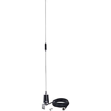 TRAM(R) 10280 144mhz/430mhz Dual-Band Pre-Tuned Amateur Trunk/Hole Mount Antenna, Silver by TRAM(R)