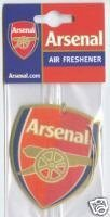 OFFICIAL ARSENAL FC CREST SHAPED AIR FRESHENER FOREVER COLLECTIBLES