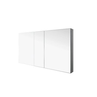 Virtu J-MED01A50 Confiant Mirrored Medicine Cabinet Recessed or Surface Mount, 50''