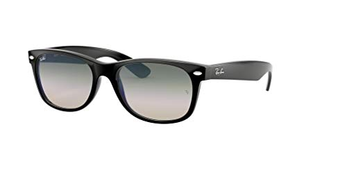 Ray-Ban RB2132 NEW WAYFARER 901/3A 55M Black/Clear Green Gradient Sunglasses For Men For Women -