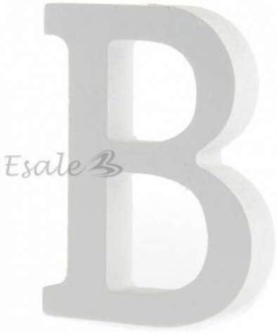 8 cm Jellbaby Adornos de letras de madera decorados para boda A-shaped9