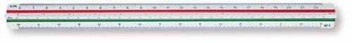 Staedtler Mars Technical Triangular Scale Ruler 30cm 561 97-DIN BK