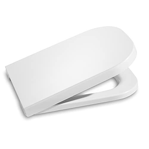 Roca A801470004 Tapa y asiento para inodoro, distancia entre los orificios de anclaje: 16 cm, Blanco