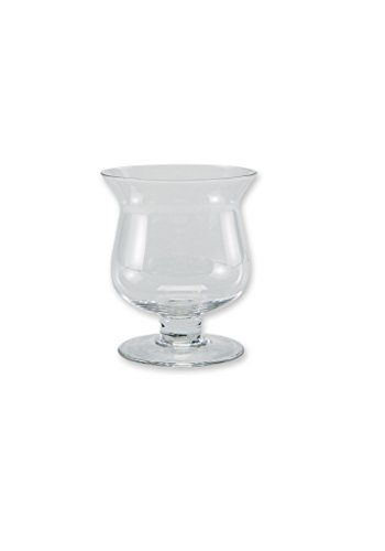 "Flower Glass Vase Decorative Centerpiece For Home or Wedding by Royal Imports – Mini Hurricane Shape, 4"" Tall x 3.5"" Opening"