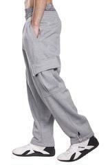 Pro 5 Fleece Cargo Sweatpants 60/40 Light Heavy Soft Warm Active pants (XL, Heather -