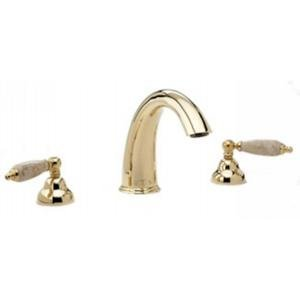 Phylrich K1158DT_014 - Carrara Deck Mounted Tub Set, Beige Marble Lever ()