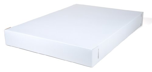 "Southern Champion Tray 1040 Premium Clay Coated Kraft Paperboard White Non-Window Sheet Cake Box Top Only, 26-1/2"" Length x 18-5/8"" Width x 3"" Height, Fits Bottom #1190 - Sold Separately (Case of 50)"