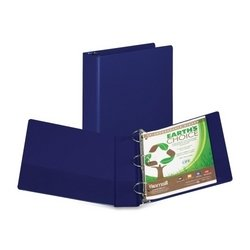 Earth's Choice Round-ring Storage Binder Color: Blue, Size: 11.6