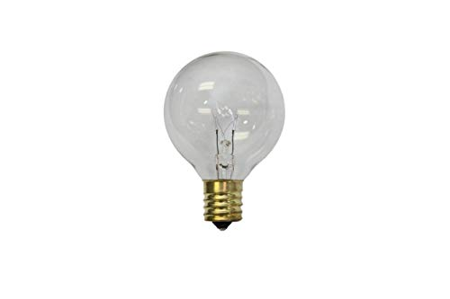 Sival - Replacement Globe Light Bulb, G50, 7W/130V, E17 Base, Clear, 25 Pack ()