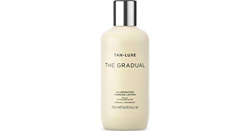 Tan-Luxe The Gradual illuminating tanning lotion 250ml - Gradual glow - Lightweight formulation - No smells - Super natural - Natural looking tan - Smoothes and conditions - United Kingdom (Best Mens Tanning Moisturiser)