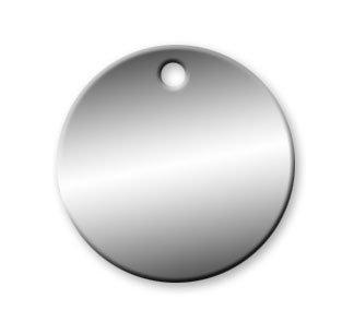 Aluminum Circle Tags - 1-1/4 inch - Pk/25