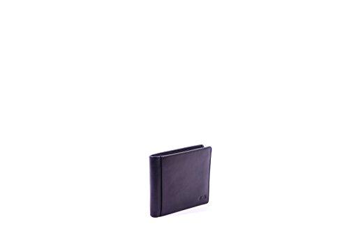 Nava Design P/foglio Pelle Smooth 13x10cm 4cc + P/monete Nero