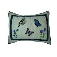 Patch Magic 27-Inch by 21-Inch Butterfly Kisses Pillow Sham by Patch ()