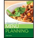 Foundations of Menu Planning by Traster, Daniel. (Prentice Hall,2013) [Paperback]