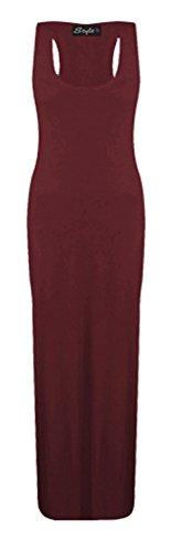 apertura sulla da maniche lunghe misure maglia 26 gilet a Plus con Le Vestito muscolare Wine schiena donna misure 8 ampia Maxi r7qr08