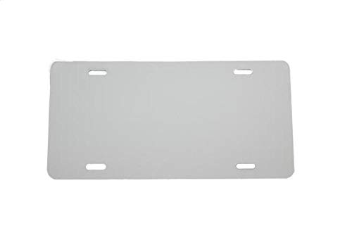 - (5 Pack-$4.99/Each) Plastic License Plate Blank Vinyl Blank - .020 - Laser Cut and Made in USA