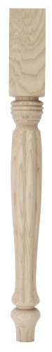 (Waddell 2821 Ash Country French Table Leg, 21-1/4