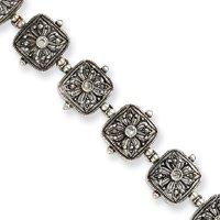 En argent Sterling et zircone cubique 7,5 cm avec Fermoirs Mousquetons-JewelryWeb