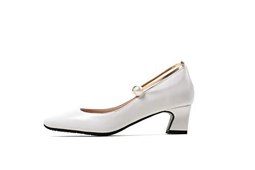 5 Sandales Compensées Blanc 36 Blanc APL10703 BalaMasa EU Femme T1Owxqf5n0