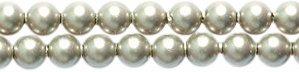 Swarovski 5810 Crystal Round Pearl Beads, 3mm, Platinum, 50-Pack