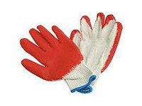 Red String Knit Gloves with Full Palm Coating, 300 pairs, Emerald R131L Large by Emerald