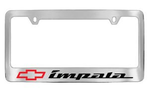 Chevrolet Chevy Impala with red logo License Plate Frame Holder