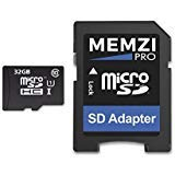 MEMZI PRO 32GB Class 10 90MB/s Micro SDHC Memory Card with SD Adapter for Nokia or Microsoft Lumia Cell - Card Sd 1320 Lumia Nokia