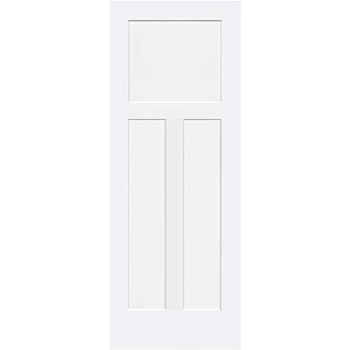1+2 Panels Door, Kimberly Bay Interior Slab Shaker White (30x80) (Solid Wood Interior Doors)