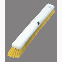 Yellow Sparta Spectrum Omni Sweep - 18 inch with Color-Coded Synthetic Bristle Plastic Block -- 12 per case by Carlisle