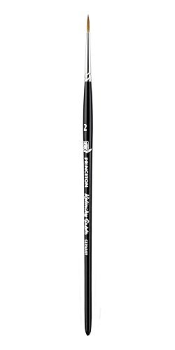 Princeton (1-Pack) 7050 Kolinsky Sable Short Handle Watercolor Paint Brush Size 2 Round 7050R-2--Best Watercolor Brush from Princeton