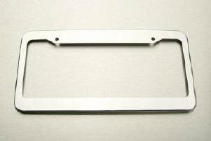 license plate frame high gloss stainless steel