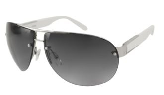 Guess Sunglasses - 6782 / Frame: Silver with White Temples Lens: Gray - Sunglasses Guess Frame White