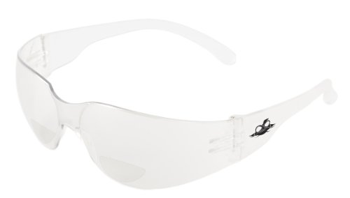Bullhead Safety Eyewear BH11125 Torrent Readers, Crystal Clear Temple, Clear Lens, 2.5 Diopter (1 - Shields Me Glasses For Near Side