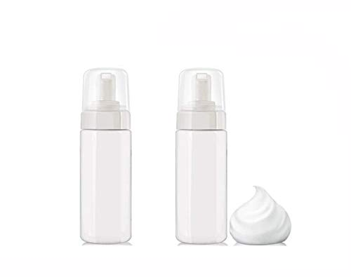 2Pcs 5 Ounce Plastic Foamer Pump Dispenser Foaming Soap Mousse Bottles Empty Storage Container for Cosmetic Facial Cleanser Liquid Skin Care Products Hand Soap (Foaming Oz Pump 5)