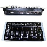 EMB MIX6 19' Rack Mount 4 Channel Professional Mixer w/ Dual 7...