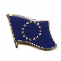 European Union EU Flag Small Metal Lapel Pin Badge 3/4 X 3/4 Inches New