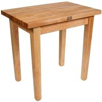 (John Boos Cream Finish Useful Gray Stain Base Maple Classic Country Work Table, 48 x 24 x 1.75 inch - 1 each.)