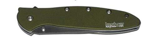 Kershaw Leek Folding Pocket Knife - Black Was Blade, Olive by Kershaw (Image #1)