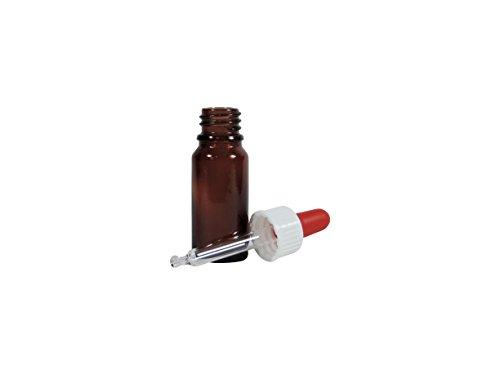 Viva Haushaltswaren botellas farmacéuticas de vidrio de 10 ml, marrón, 2 piezas: Amazon.es: Hogar