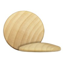 Domed Bead Caps (Wooden Domed Disc / Circle-Bag of 20)