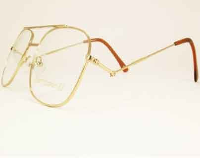 Snooker Spectacle Frame with tilting side arms gold coloured metal by Hurricane - Spectacle Uk Frames
